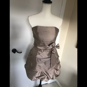 Daisy Taupe w/ Ruched Bubble dress in size S